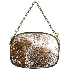 Digitally Painted Colourful Winter Branches Illustration Chain Purses (One Side)
