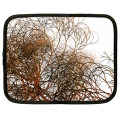 Digitally Painted Colourful Winter Branches Illustration Netbook Case (xl)