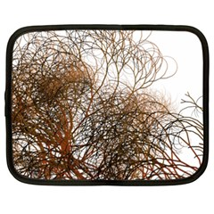 Digitally Painted Colourful Winter Branches Illustration Netbook Case (XXL)