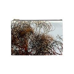 Digitally Painted Colourful Winter Branches Illustration Cosmetic Bag (Medium)