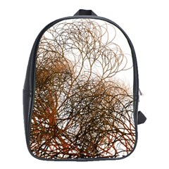 Digitally Painted Colourful Winter Branches Illustration School Bags(Large)