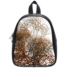 Digitally Painted Colourful Winter Branches Illustration School Bags (Small)