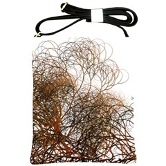 Digitally Painted Colourful Winter Branches Illustration Shoulder Sling Bags