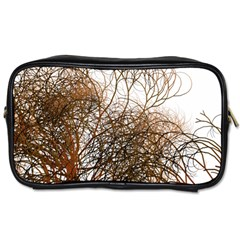 Digitally Painted Colourful Winter Branches Illustration Toiletries Bags 2-Side