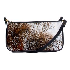 Digitally Painted Colourful Winter Branches Illustration Shoulder Clutch Bags