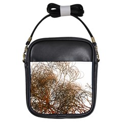 Digitally Painted Colourful Winter Branches Illustration Girls Sling Bags