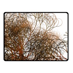 Digitally Painted Colourful Winter Branches Illustration Fleece Blanket (Small)