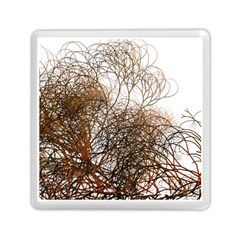 Digitally Painted Colourful Winter Branches Illustration Memory Card Reader (Square)