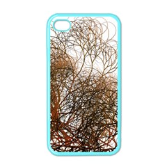 Digitally Painted Colourful Winter Branches Illustration Apple iPhone 4 Case (Color)