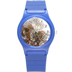 Digitally Painted Colourful Winter Branches Illustration Round Plastic Sport Watch (s)