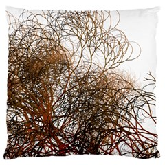 Digitally Painted Colourful Winter Branches Illustration Large Cushion Case (One Side)