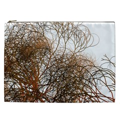 Digitally Painted Colourful Winter Branches Illustration Cosmetic Bag (XXL)