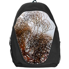 Digitally Painted Colourful Winter Branches Illustration Backpack Bag
