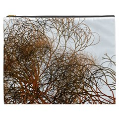 Digitally Painted Colourful Winter Branches Illustration Cosmetic Bag (XXXL)