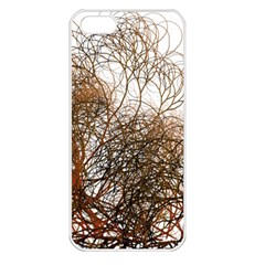 Digitally Painted Colourful Winter Branches Illustration Apple iPhone 5 Seamless Case (White)