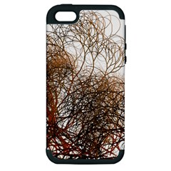 Digitally Painted Colourful Winter Branches Illustration Apple Iphone 5 Hardshell Case (pc+silicone)