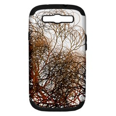 Digitally Painted Colourful Winter Branches Illustration Samsung Galaxy S Iii Hardshell Case (pc+silicone)