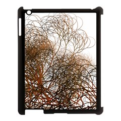 Digitally Painted Colourful Winter Branches Illustration Apple iPad 3/4 Case (Black)