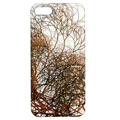 Digitally Painted Colourful Winter Branches Illustration Apple iPhone 5 Hardshell Case with Stand
