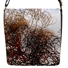 Digitally Painted Colourful Winter Branches Illustration Flap Messenger Bag (S)
