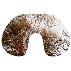 Digitally Painted Colourful Winter Branches Illustration Travel Neck Pillows