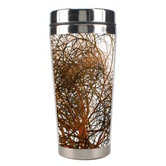Digitally Painted Colourful Winter Branches Illustration Stainless Steel Travel Tumblers
