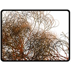Digitally Painted Colourful Winter Branches Illustration Double Sided Fleece Blanket (Large)