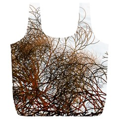 Digitally Painted Colourful Winter Branches Illustration Full Print Recycle Bags (L)