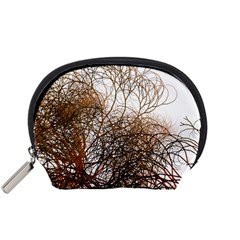 Digitally Painted Colourful Winter Branches Illustration Accessory Pouches (Small)