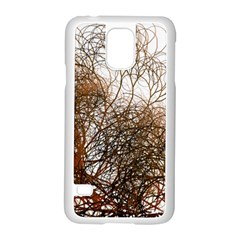 Digitally Painted Colourful Winter Branches Illustration Samsung Galaxy S5 Case (White)