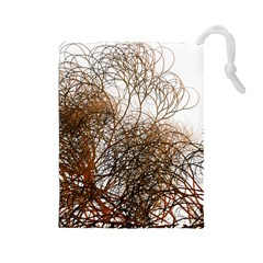 Digitally Painted Colourful Winter Branches Illustration Drawstring Pouches (large)