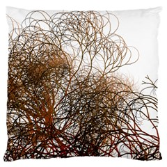 Digitally Painted Colourful Winter Branches Illustration Large Flano Cushion Case (two Sides)