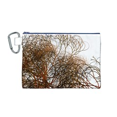 Digitally Painted Colourful Winter Branches Illustration Canvas Cosmetic Bag (M)