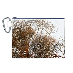 Digitally Painted Colourful Winter Branches Illustration Canvas Cosmetic Bag (L)