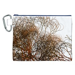 Digitally Painted Colourful Winter Branches Illustration Canvas Cosmetic Bag (xxl)