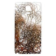 Digitally Painted Colourful Winter Branches Illustration Galaxy Note 4 Back Case