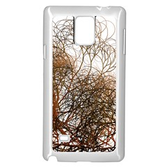 Digitally Painted Colourful Winter Branches Illustration Samsung Galaxy Note 4 Case (white)