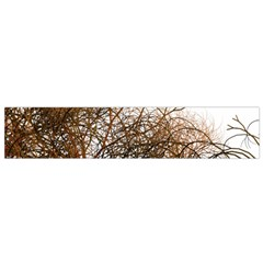 Digitally Painted Colourful Winter Branches Illustration Flano Scarf (small)