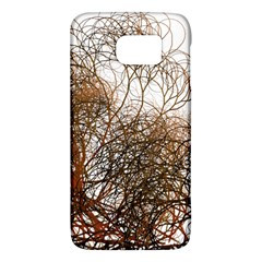 Digitally Painted Colourful Winter Branches Illustration Galaxy S6