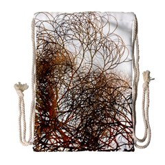 Digitally Painted Colourful Winter Branches Illustration Drawstring Bag (Large)