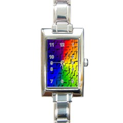A Creative Colorful Background Rectangle Italian Charm Watch