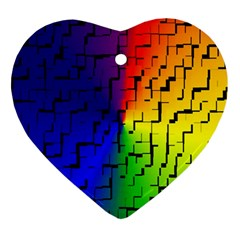 A Creative Colorful Background Ornament (Heart)