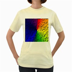 A Creative Colorful Background Women s Yellow T-Shirt