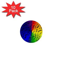 A Creative Colorful Background 1  Mini Buttons (10 pack)