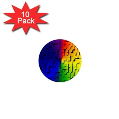 A Creative Colorful Background 1  Mini Magnet (10 pack)