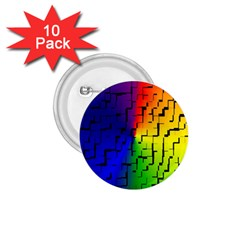 A Creative Colorful Background 1 75  Buttons (10 Pack)