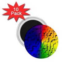 A Creative Colorful Background 1 75  Magnets (10 Pack)