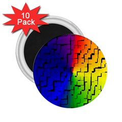 A Creative Colorful Background 2 25  Magnets (10 Pack)