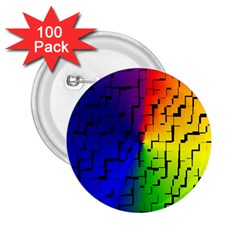 A Creative Colorful Background 2.25  Buttons (100 pack)