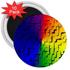A Creative Colorful Background 3  Magnets (10 pack)